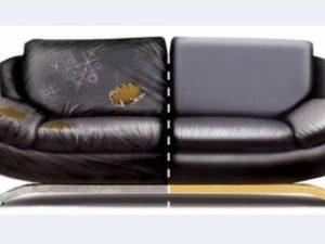 Перетяжка кожаного дивана в Подольске